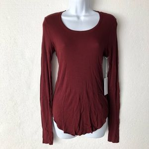 Cotton Citizen Red Thermal Long Sleeve Tee